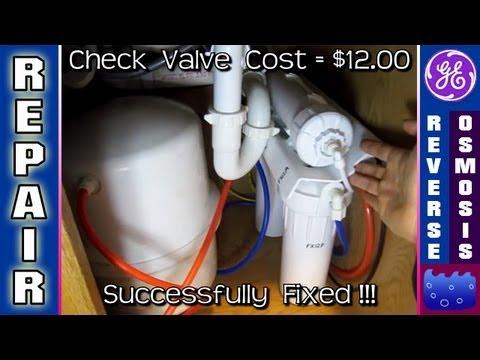 Reverse Osmosis REPAIR Auto Shut Off Check Valve Water Filter GXRM10G GE drain running