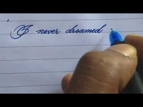 Cursive handwriting with gel pen l most satisfying calligraphy