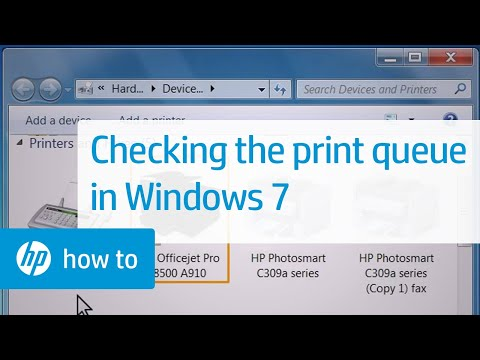 Checking the Print Queue in Windows 7