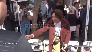 cody fern attends ryan murphy's star ceremony on the hollywood walk of fame in los angeles