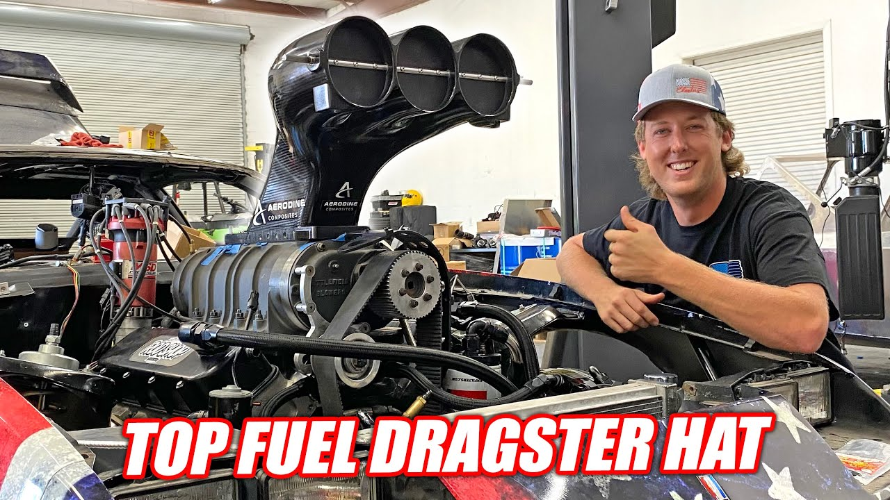 We Got a TOP FUEL Dragster Hat For Our Supercharged Camaro Because AMERICA!!! (can flow 11,000hp)