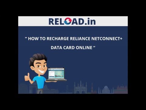 Reliance NetConnect Data Card Recharge with Reload.in