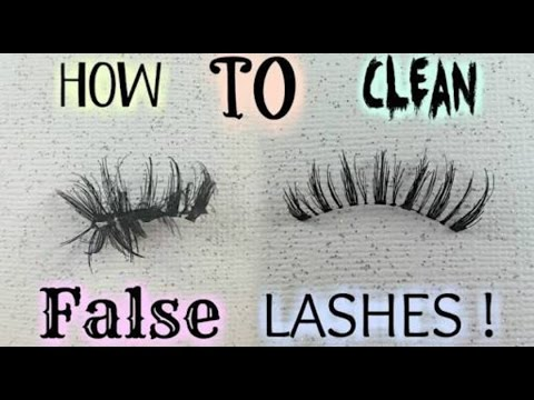 How To Clean False or Fake Eyelashes To Use and Keep Them Longer And Save Money||AMAZING YOU