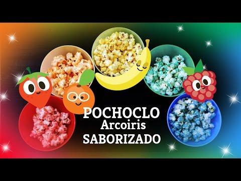 Pochoclos Arcoiris Saborizados frutales/ Rainbow fruit flavored popcorn
