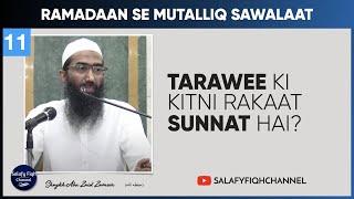 Taraweeh ki kitni rakat Sunnat hai | Abu Zaid Zameer