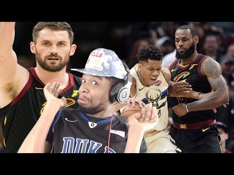 KEVIN LOVE! MY GUY!! LOL YOUR BACK! BUCKS vs CAVS HIGHLIGHTS REACTION