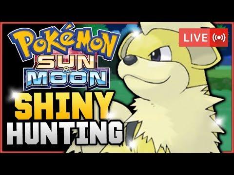 Pokémon Sun & Moon LIVE Shiny Hunting! Hunting For Shiny Growlithe! w/ HDvee