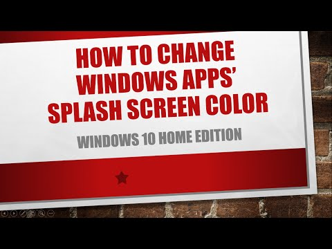 How to change Windows Apps' Splash Screen Color | Windows 10