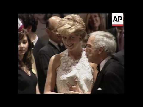 UK - Diana Departs For Washington, USA - Diana's First Engagement Since Divorce, USA - Diana Attends
