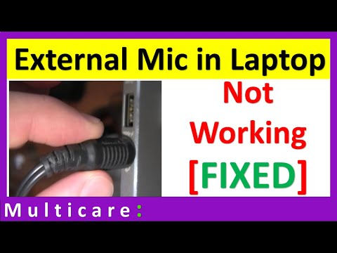 External mic not working in laptop | Combo Jack