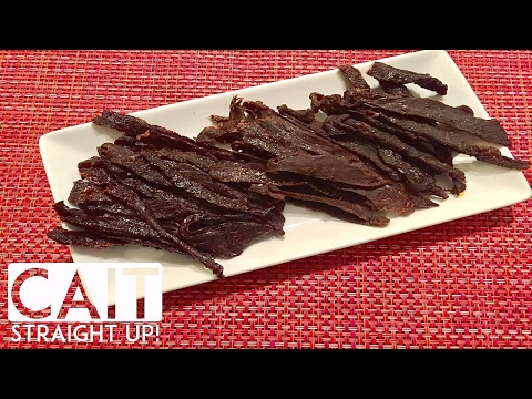 How To Make Beef Jerky In The Oven Homemade  | Cait Straight Up
