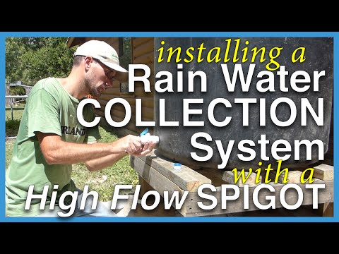 Rainwater Collection Tank with High Flow Water Spigot