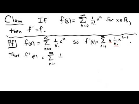 A proof involving the derivative of a power series