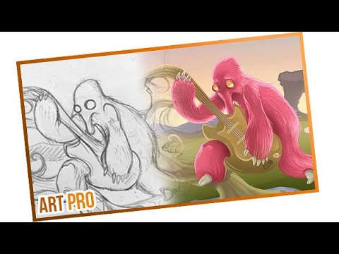 How to draw in Photoshop - turn a sketch into digital drawing