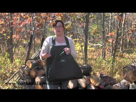 The Backsaver Wood Tote Makes Carrying Firewood Easier