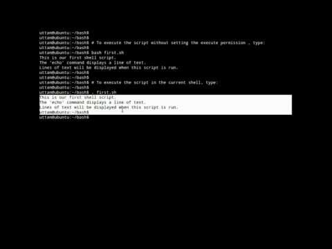 Linux Shell Scripting (Writing and Executing a Shell script)