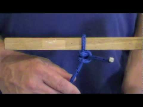 How to tie a round turn and 2 half hitches