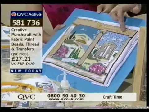 Andrea Webster's Beaded Punch Needle and Fabric Paint Demonstration