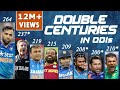 Double Centuries In ODI Cricket Sachin Sehwag Rohit Chris Gayle Martin Guptill Fakhar Zaman