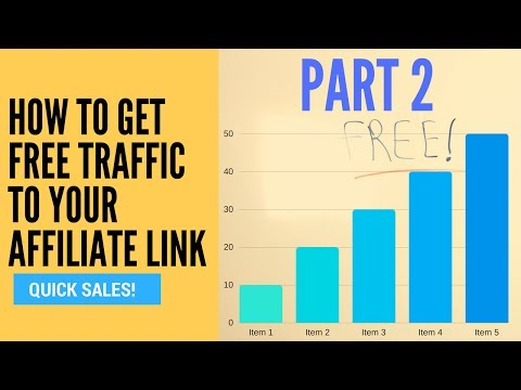How To Get Free Traffic To Your Affiliate Link - Part 2 (Increase Website Traffic)