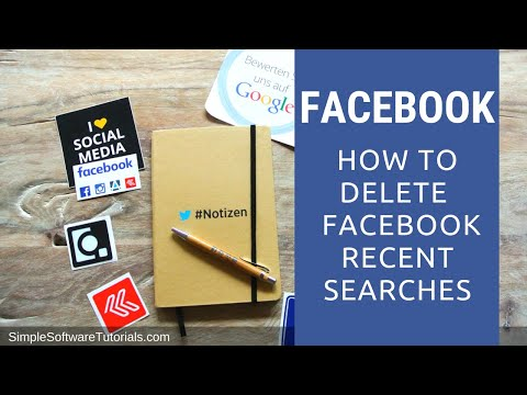 How to Delete  Facebook Recent Searches