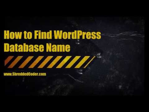 How to Find WordPress Database Name