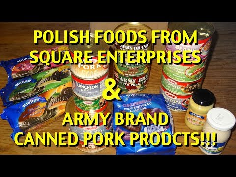 Unboxing: Polish Foods from Square Enterprises (Army Brand Canned Meats!)