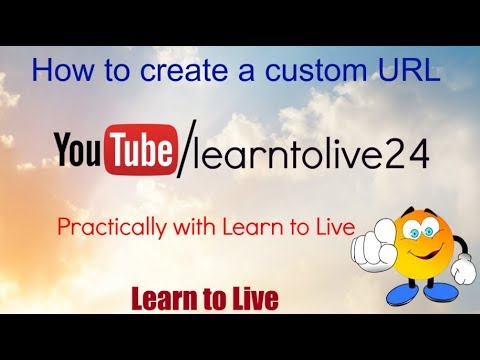 How to create a custom URL for youtube practically.. New 2018 !!!