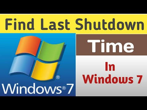 How to Find Out Last Shutdown and Restart Time In Windows 7