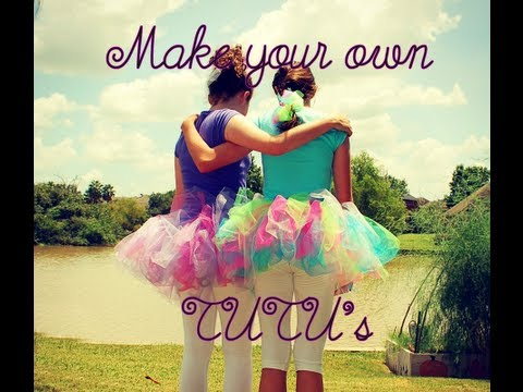 How to make SIMPLE NO-SEW TUTUS! For Adults and Children!