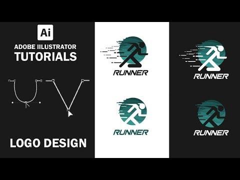 Adobe Illustrator   Runner Logo Design #FreeDownload
