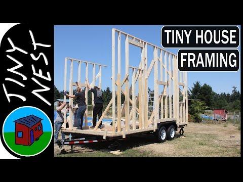 Tiny House Framing & Wall-Raising (Ep.9)