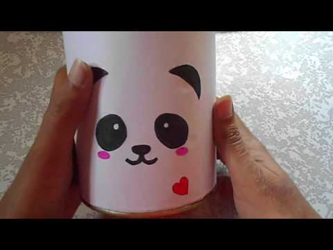 How to make piggy bank out of old container   DIY   Best of waste   Niya kumar