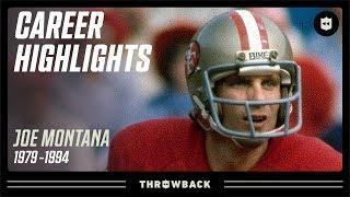 """Joe """"Cool"""" Montana Career Highlights   NFL Legends"""