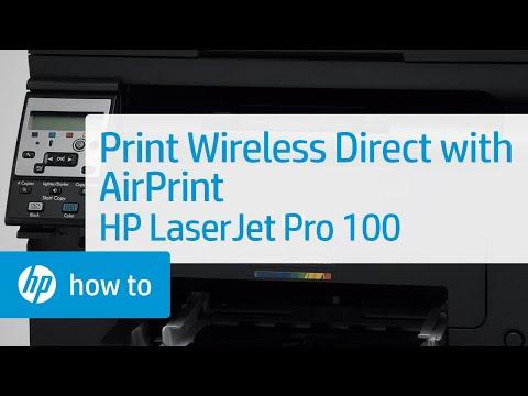 Printing Wireless Direct Using Apple's AirPrint - HP LaserJet Pro 100
