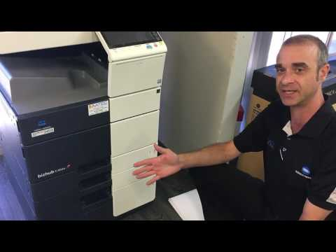 Konica Minolta How to Load Paper in Large Paper Tray