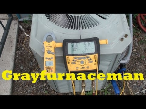 Check charge in the air conditioner at low ambient temperatures
