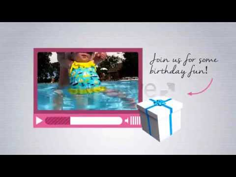 Birthday party video invite sample 2