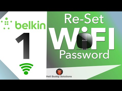 Belkin Wi-Fi Network & Password Re-Setting Part 1