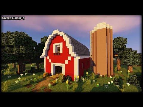 Minecraft - Barn & Silo Tutorial!