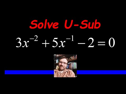 Solve an Equation using a U-Substitution and Factoring