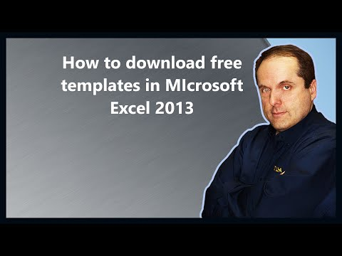 How to download free templates in MIcrosoft Excel 2013