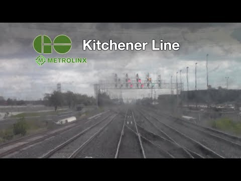 GO Transit Kitchener Line, Toronto to Guelph on VIA Rail (Timelapse)