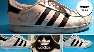 How To Clean Adidas SuperStar | White shoes