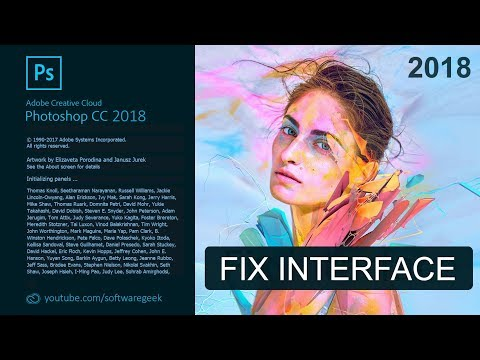 Fix the interface in Photoshop CC 2018 on Hi-DPi Windows Displays