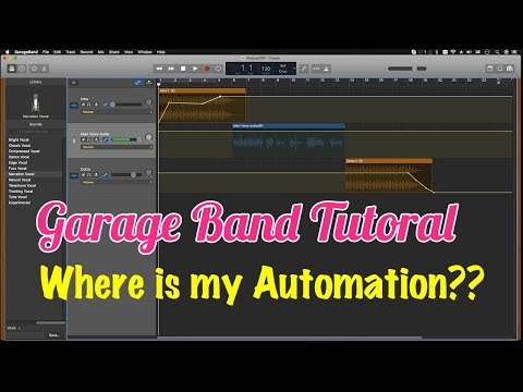GarageBand Tutorial - Where IS THE AUTOMATION Button??