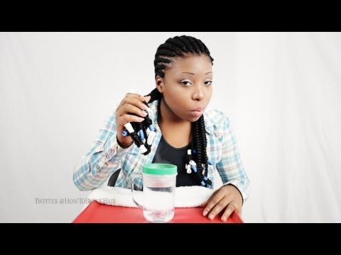 How To Cornrows Tutorial Sealing The Ends of Your Weave Part 4
