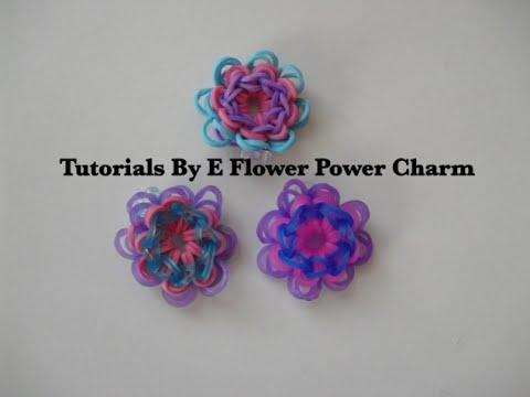 Rainbow Loom Flower Power Charm Tutorial
