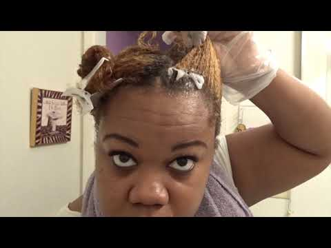 How to color natural hair (honey blonde)