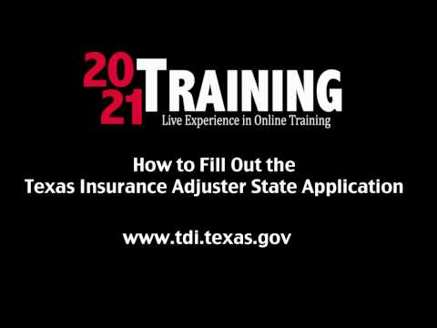 Texas Adjuster Application Final